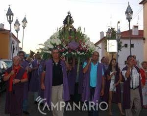 """""""Borba e Nosso Senhor dos Aflitos, é uma história de amor"""", diz Padre Marcelino, na procissão com a imagem para a Igreja Matriz (c/som e fotos)"""