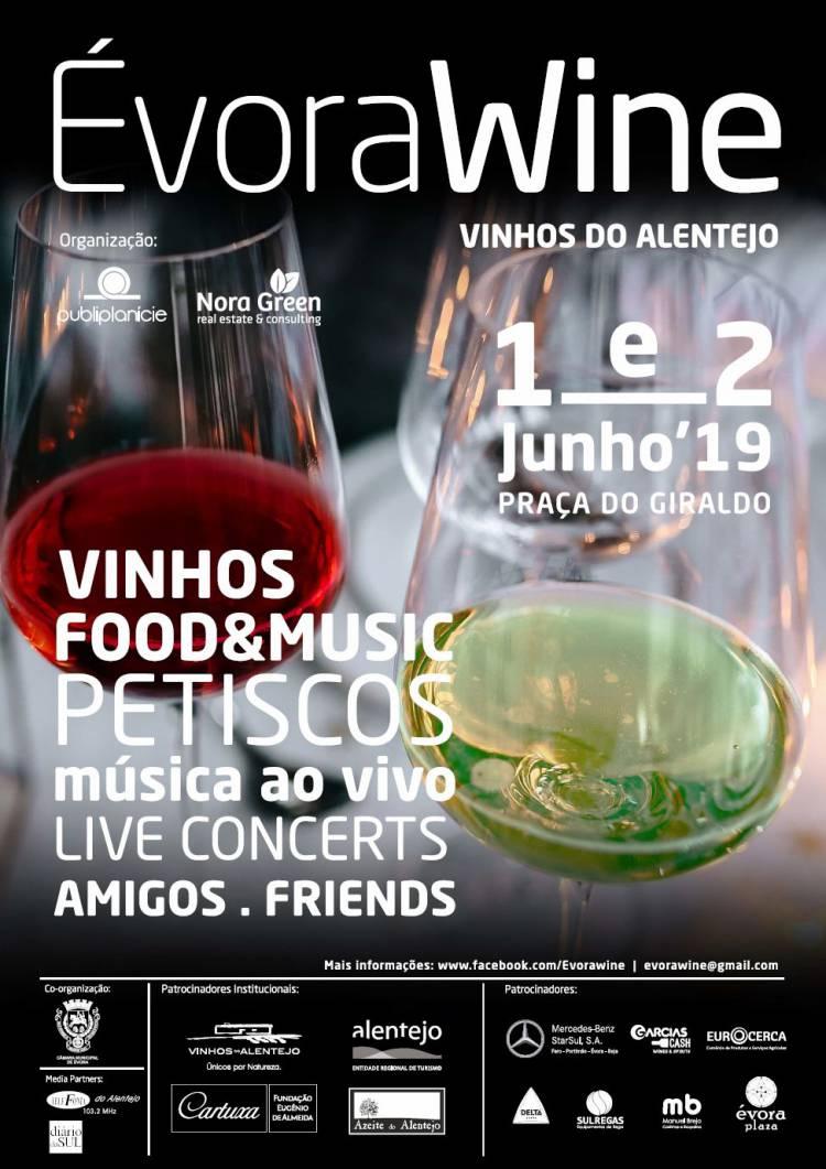 ÉvoraWine 2019 a 1 e 2 de junho na Praça do Giraldo