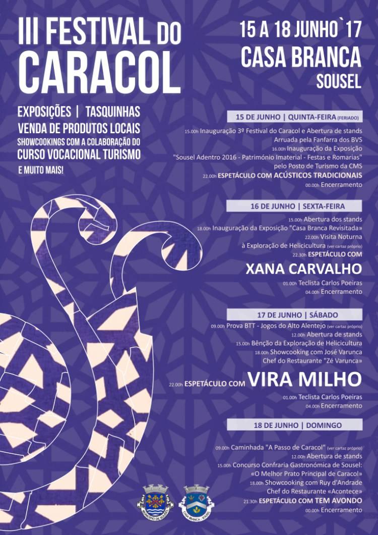 Casa Branca (Sousel) receberá a partir de quinta-feira Festival do Caracol