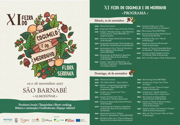 Almodôvar recebe XI edição da Feira do Cogumelo e do Medronho