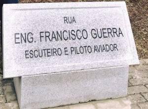 Jovem piloto e escuteiro, Francisco Guerra homenageado na sua cidade com nome de rua