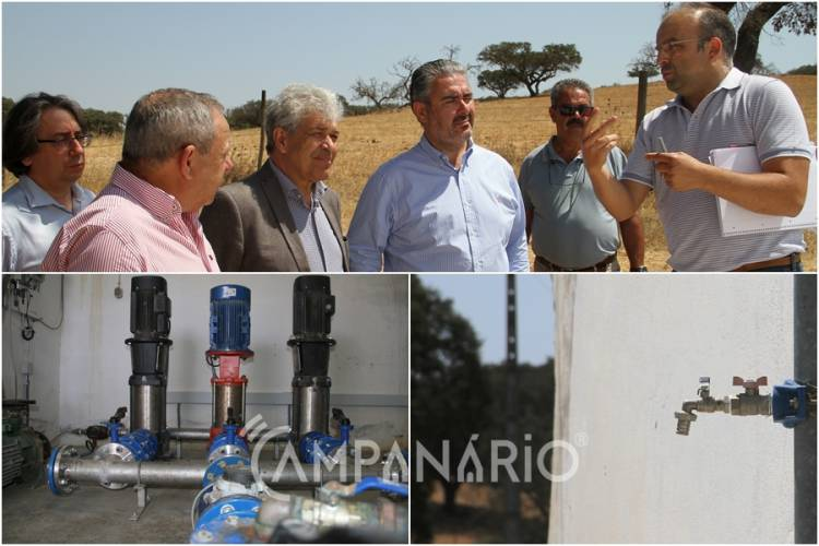 """Alandroal inicia obras para filtragem da água em Santiago Maior. Autarca afirma que """"em agosto, a população sentirá as melhorias"""". Veja as fotos (c/som)"""