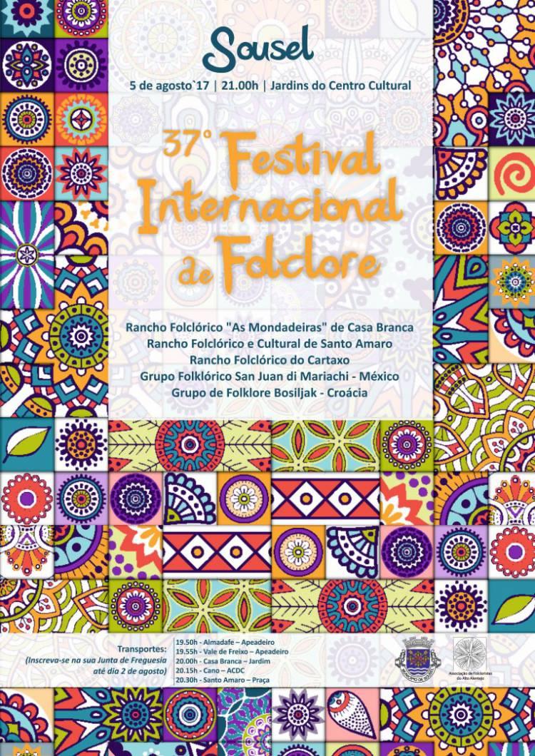 Sousel receberá dia 5 de agosto 37º Festival Internacional de Folclore
