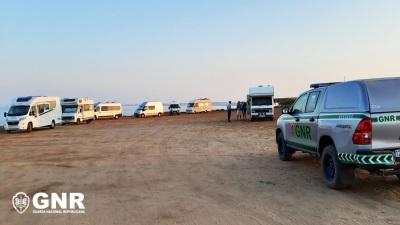 GNR registou 31 infrações em fiscalização ao campismo e caravanismo ilegal em Santiago do Cacém
