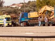 ÚLTIMA HORA: Grave acidente ao cruzamento para Bencatel (c/fotos)