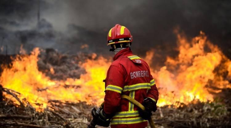 Vila Viçosa: Incêndio junto à Escola Secundária mobilizou mais de duas dezenas de bombeiros