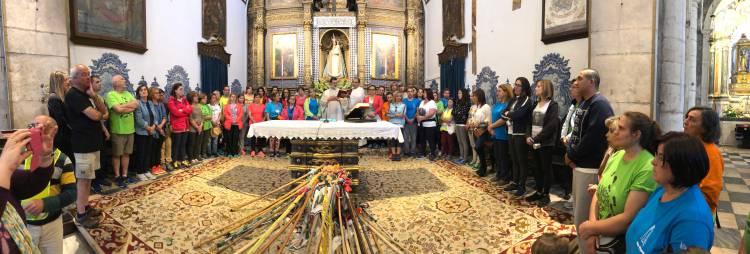 Campanário Tv: A partida dos Peregrinos de Vila Viçosa para Fátima (c/video)