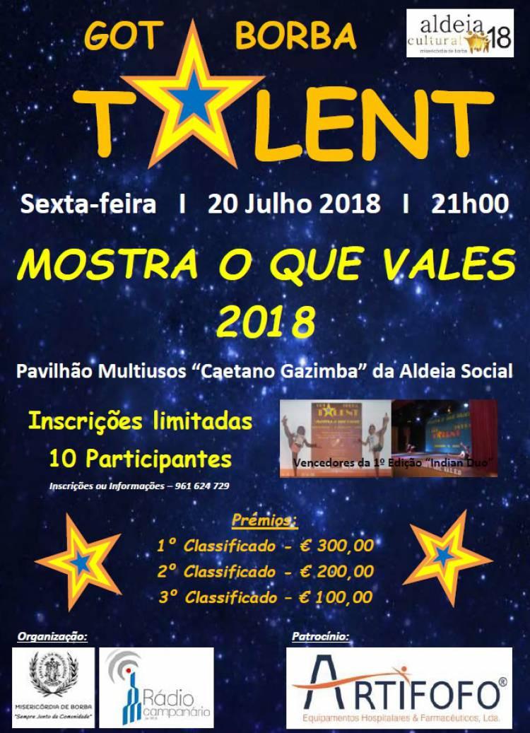 """Misericórdia de Borba volta a promover concurso """"Mostra o Que Vales"""" – Got Talent de Borba"""