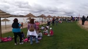 Praia Fluvial de Mourão recebeu centenas de crianças em ação de promoção do Lago Alqueva (c/som)