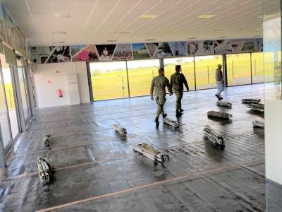 Monforte dá início a montagem da sala de isolamento, no Polivalente Municipal em caso de necessidade de evacuação de algum Lar.