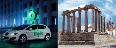 Plataforma de mobilidade Bolt chegou à cidade de Évora