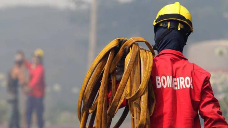 Mais de meia centena de bombeiros combate incêndio em Avis