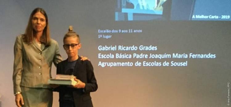 """Jovem souselense considera-se o seu próprio herói e vence prémio """"Melhor Carta - 2019"""""""