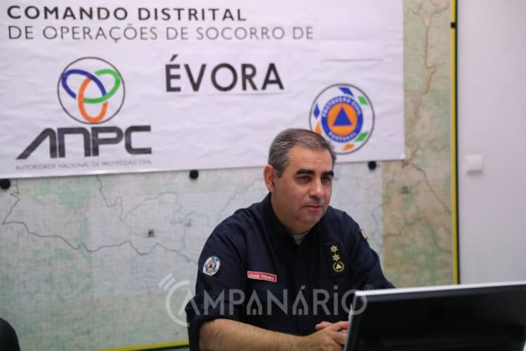 """A ANEPC apresentou hoje em Évora """"16 cenários no distrito em 3 dias"""" para o Exercício Europeu de Proteção Civil Cascade´19 (c/som)"""