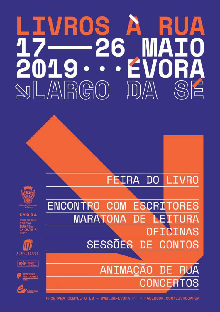 Livros estão nas ruas de Évora de 17 a 26 de maio