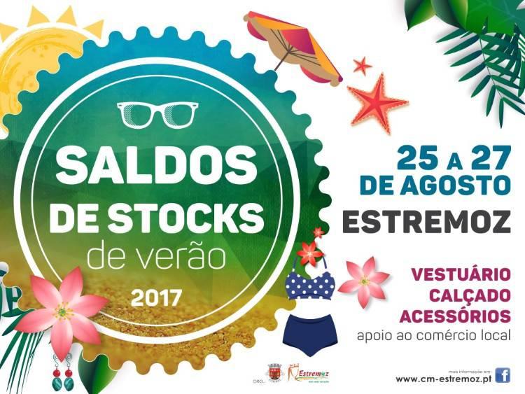 Feira de Saldos de Stocks de Verão  em Estremoz de 25 a 27 de Agosto