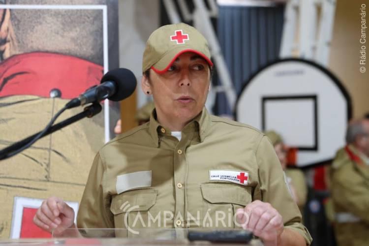 """40 socorristas da CVP juraram Compromisso de Honra, """"5 integram as fileiras da CVP de Estremoz"""", diz pres. delegação (c/som)"""