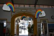 Aljustrel - Exposição de arco-íris elaborada pelos alunos das escolas no Mercado Municipal