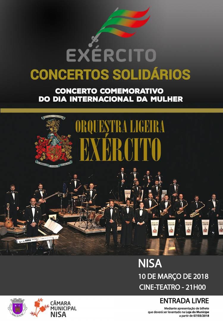 Orquestra Ligeira do Exército dá concerto solidário em Nisa