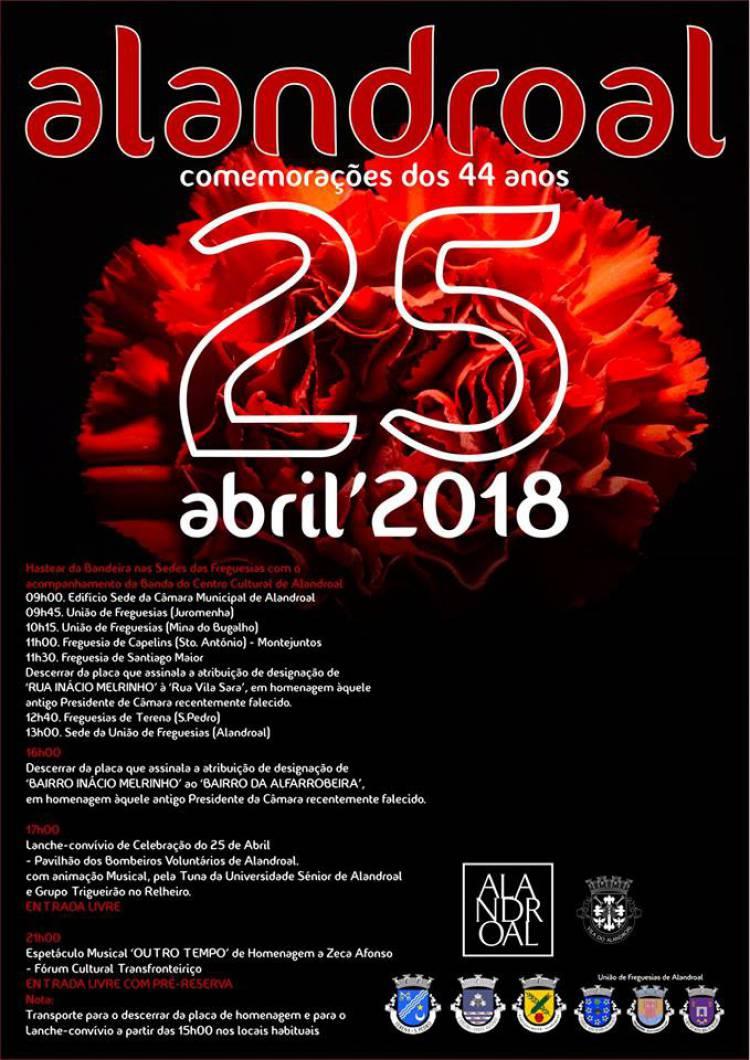 Conheça o programa para 25 de abril em Alandroal
