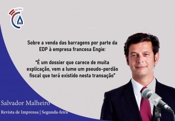 Comentário semanal do vice-presidente do PSD Salvador Malheiro aos microfones da Rádio Campanário (c/som)