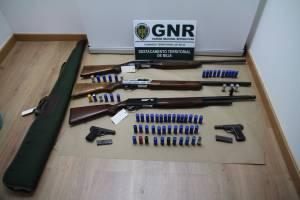 GNR detém 4 indivíduos por posse ilegal de arma em Beja