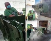 Cerca de 500 contentores de resíduos sólidos urbanos alvo de desinfeção em Reguengos de Monsaraz