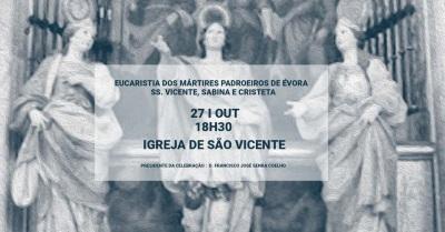 Arcebispo preside à Eucaristia dos Mártires Padroeiros de Évora