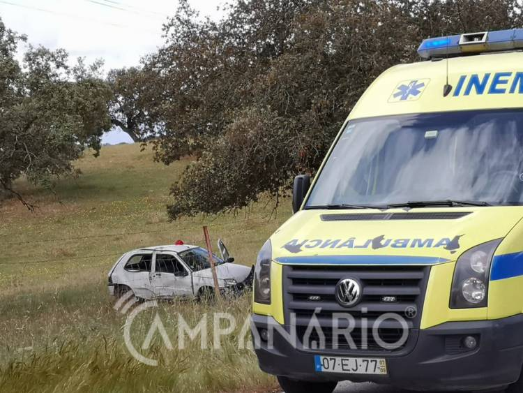 Um ferido em despiste entre São Romão e Elvas (c/fotos)