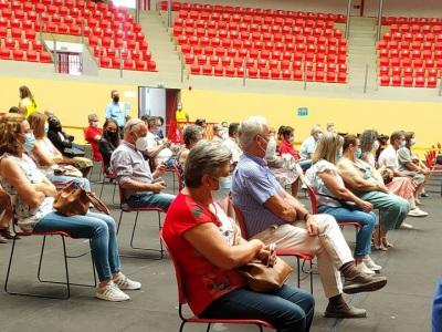 Covid 19 - Autarca de Évora recebe 2ª dose da vacina ainda na Arena de Évora
