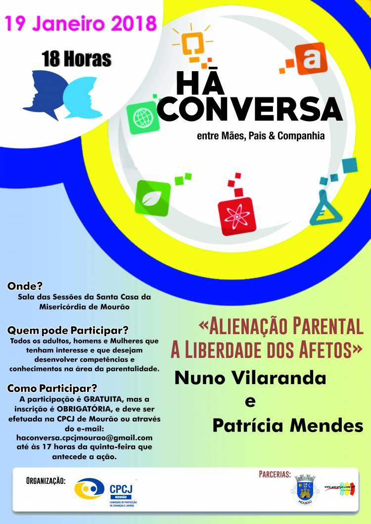 """CPCJ de Mourão promove """"Há Conversa entre mães, pais e companhia"""""""
