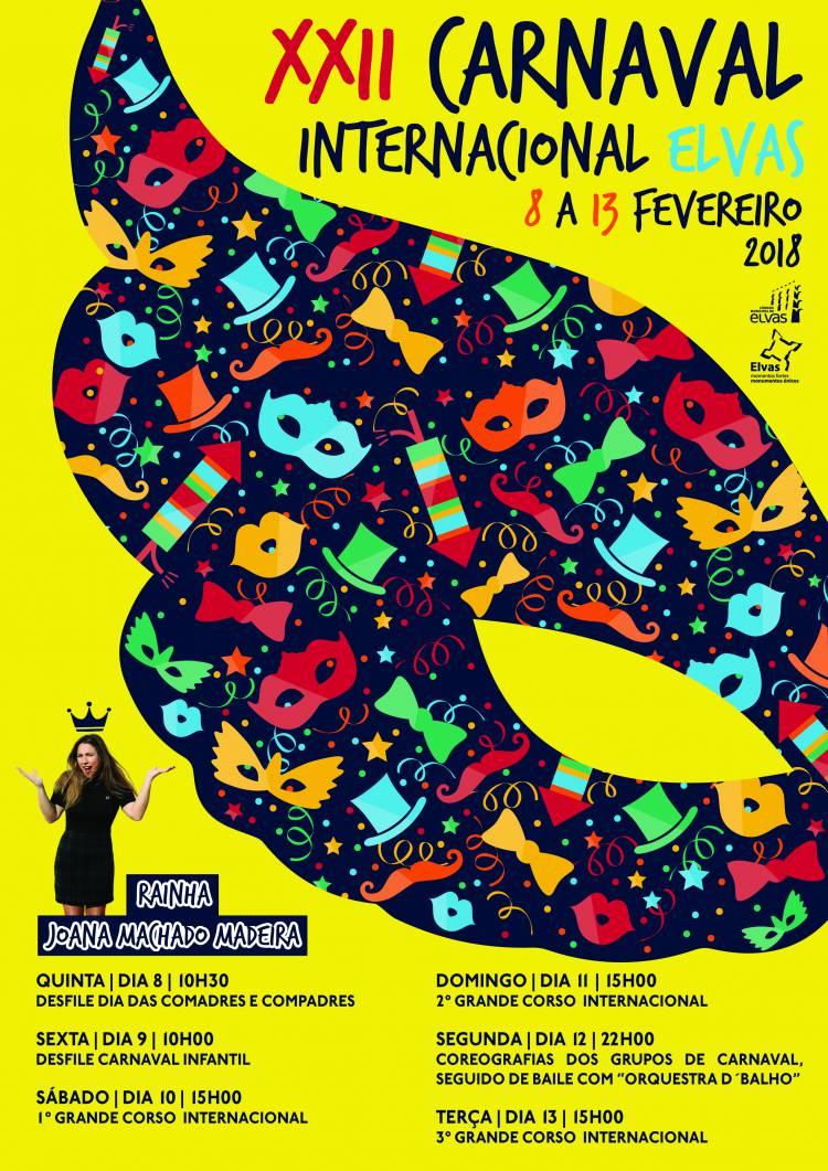 Carnaval Internacional regressa a Elvas de 8 a 13 de fevereiro